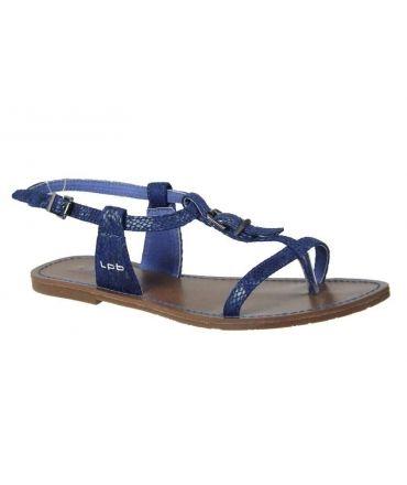 Les P'tites Bombes sandales plates Zhoé bleu
