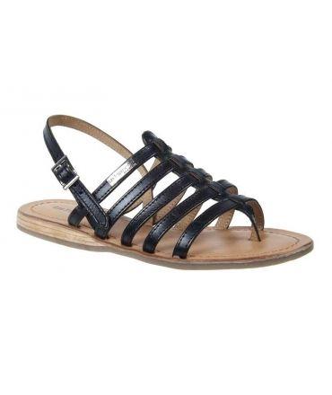 Les Tropéziennes sandale plate Héripo noir