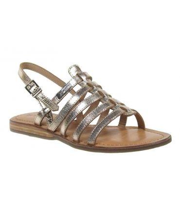 Les Tropéziennes Havapo sandale plate or