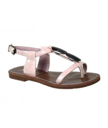 Les P'tites Bombes J-Lucinda rose, sandale entre-doigt