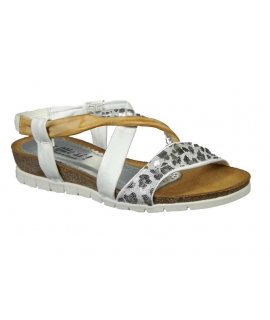 Sandale anatomique cuir, Di Que Si 6022 Africa blanc