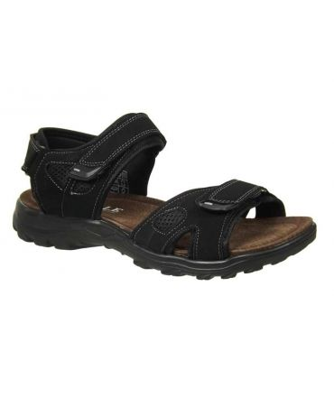 Sandale randonnée à scratch pour homme noire
