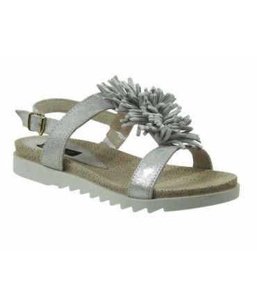 Nu pieds Elue par Nous Zizou argent, sandales femmes nouveauté
