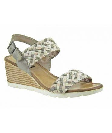 Nu pieds Elue par Nous Zaboule cuir gris, nouveauté chaussures femmes