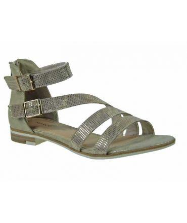 Nu pieds Marco Tozzi 28104 doré, nouveauté sandales femmes