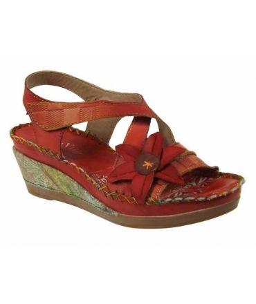 Sandale nu pieds Laura Vita Béatrice 15 rouge