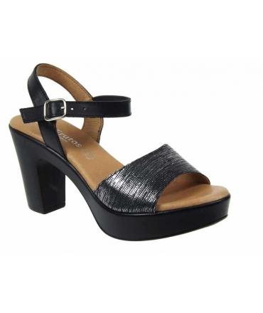 Sandale talon Eva Frutos 5869 duncan noire | chaussures confort