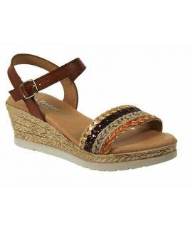 Sandale Eva Frutos 7497 marron, chaussure femme confortable
