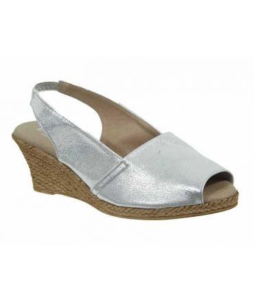Sandales cuir Eva Frutos Orion-417 argent | spécial pieds sensibles