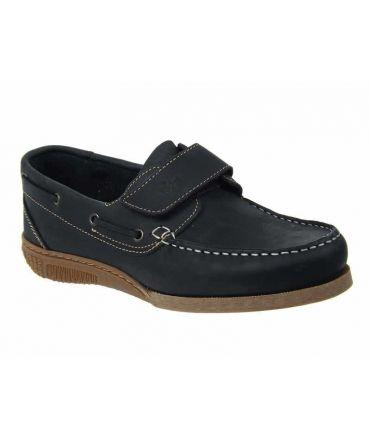 Chaussure bateau Tbs Homard cuir marine