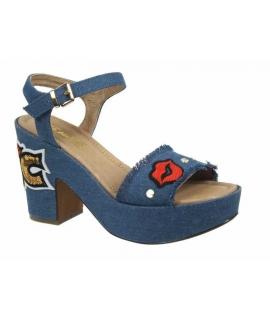 Sandale à talon fantaisie Ziatique jeans Elue par Nous