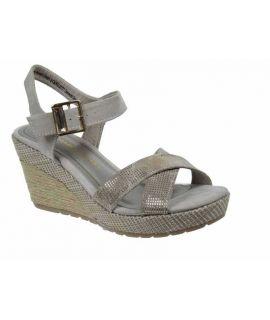 Sandale compensée cordes Marco Tozzi 28301 taupe