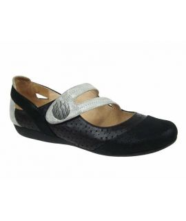 Ballerine type confort Fugitive Darbo noir, Chaussures Francesco Rossi