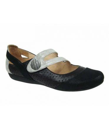 Ballerine type confort Fugitive Darbo noir, Chaussures Francesco Rossi
