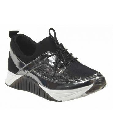 Kdopa Celtic noir, basket lacets, semelle compensée
