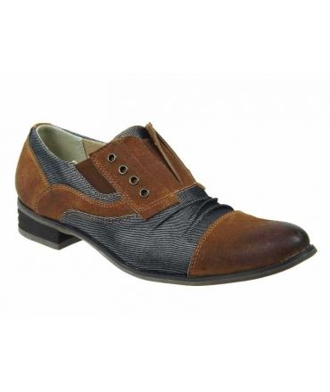 Chaussures Kdopa Lima camel, soulier mode homme