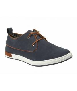 Kdopa phil gris, chaussure lacet cuir homme