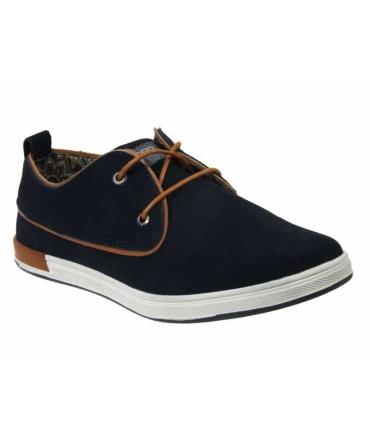 Kdopa phil bleu, chaussure lacet homme en nubuck