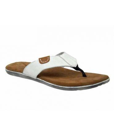 Kdopa nu-pieds en cuir Cayenne blanc