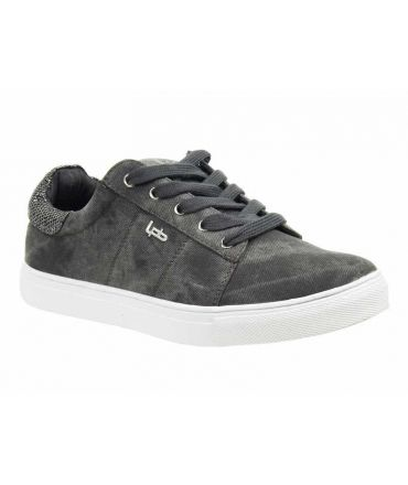 Basket Les P'tites Bombes Babou noir, sneakers style Stan Smith