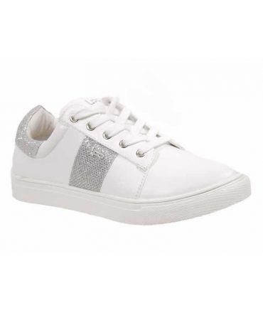 Basket basse LPB Shoes babou blanc argent | Les P'tites Bombes