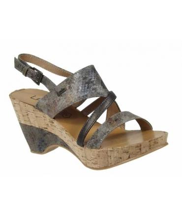 Sandale compensée 3-Juliette F taupe Les P'tites Bombes | LPB Shoes