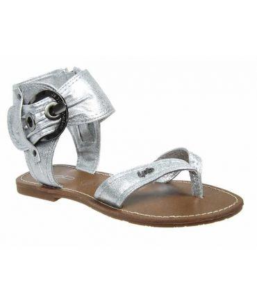 Sandale grosse boucle Les P'tites Bombes Thalie Gris