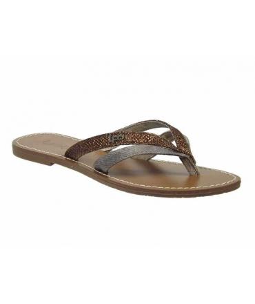 Tongs Kalinda-F choco Les P'tites Bombes   LPB Shoes