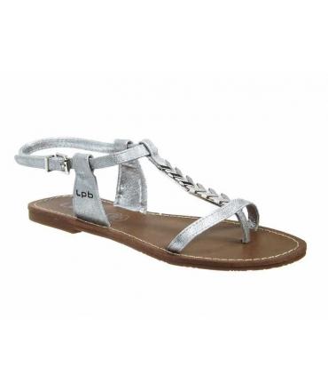 Sandales Les P'tites Bombes Pétunia argent | Nu pieds bijoux Lpb Shoes