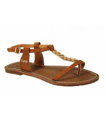Sandale Les P'tites Bombes salomé Pétunia camel