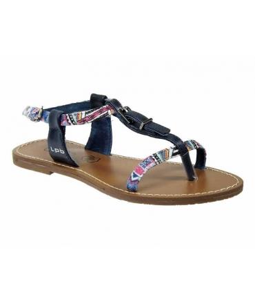 Sandale imprimée ethnique Les P'tites Bombes Zhoé navy