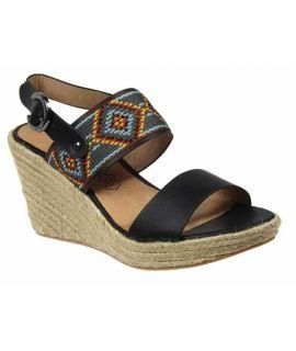 Nu pieds cordes Chattawak Helena noir