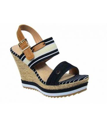 Sandale compensée Playa Batna Black