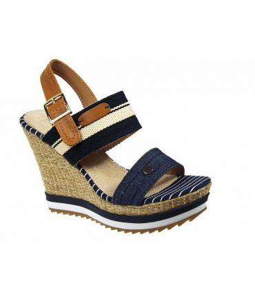 Sandale compensée Playa Batna Bleu