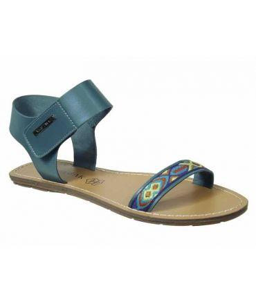 Sandale ethnique Chattawak Louisiane bleu