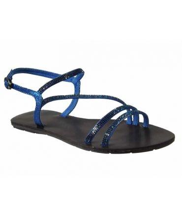 Sandale strass Chattawak Nelly bleu